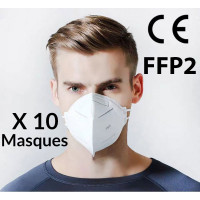 Masques de Protection FFP2 - Lot de 10 masques